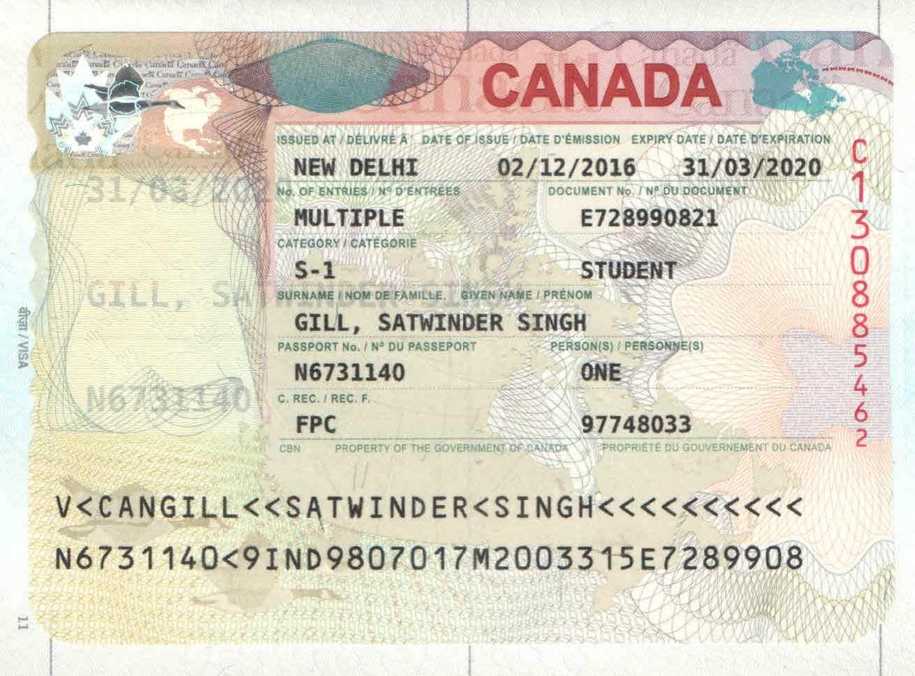 Congratulations to satwinder singh for canada visa