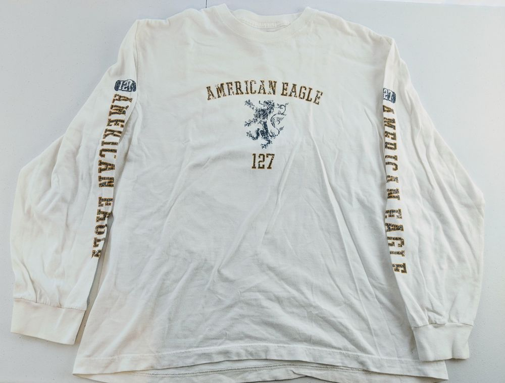 7d25ce34 American Eagle 127 Long Sleeve Mens Large Off White 100% Cotton #fashion # clothing #shoes #accessories #mensclothing #shirts (ebay link)