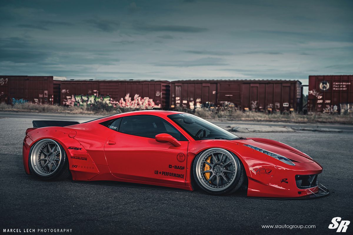 featured fitment liberty walk ferrari 458 with pur wheels liberty walk ferrari 458 and ferrari. Black Bedroom Furniture Sets. Home Design Ideas