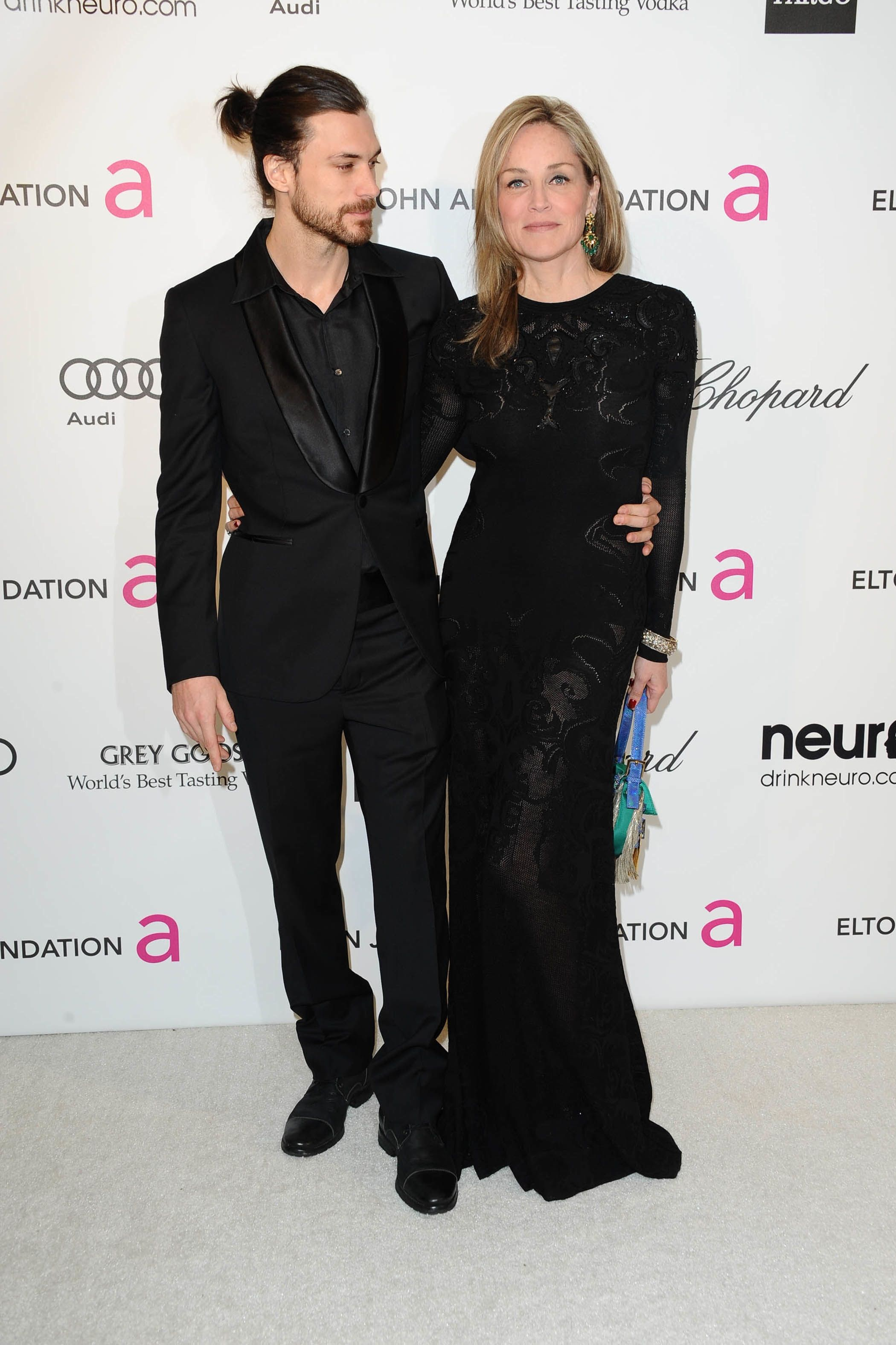 Sharon Stone with ex-boyfriend Martin Mika