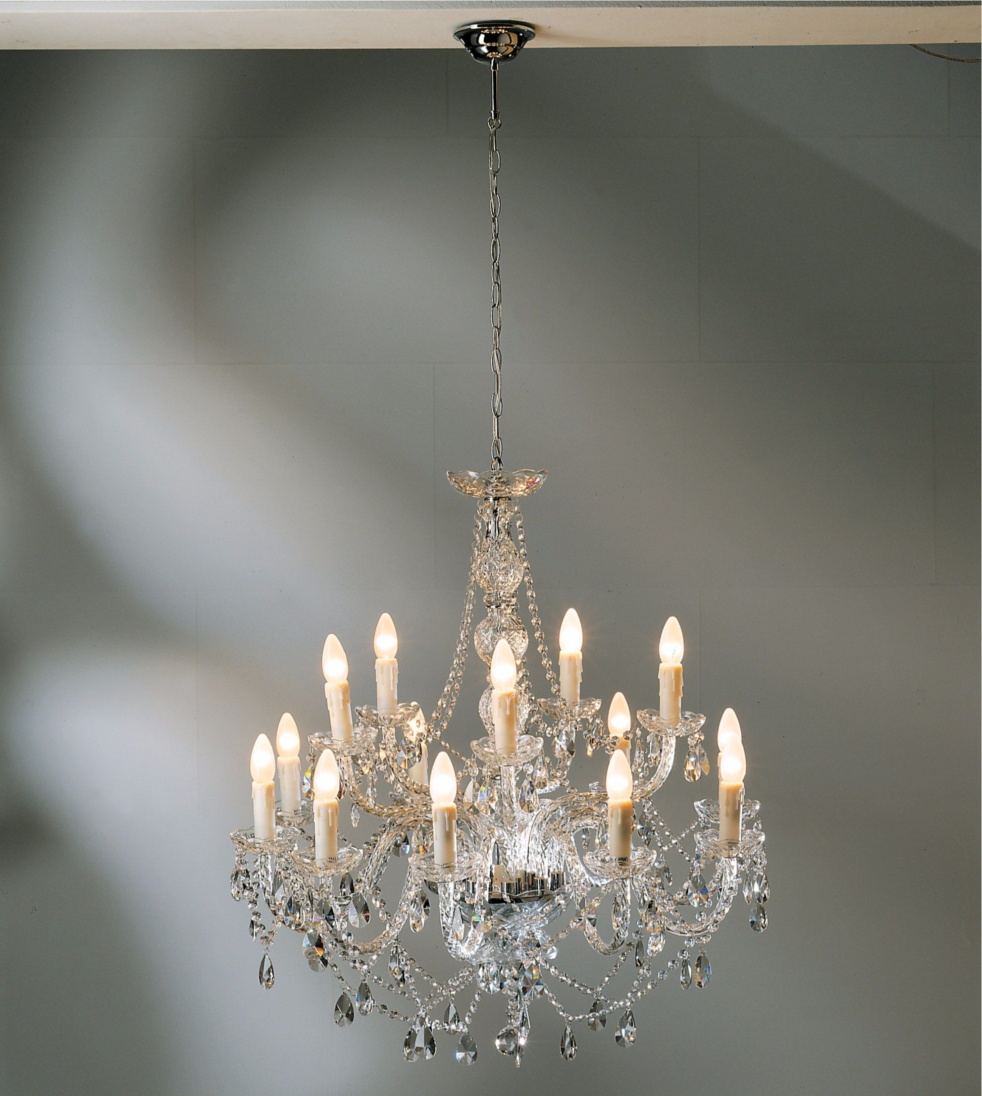 Glass Chandelier Gioiello Crystal Clear 14 By Kare Design Glass