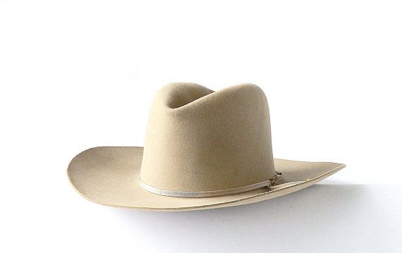 d0df1034906ca Vintage Dobbs Hat Rancher Thirty Rancher Cowboy Hats Beige Wool Felt Dobbs  Hat Movie Prop Western Decor Midland Texas S Q FREE SHIPPING