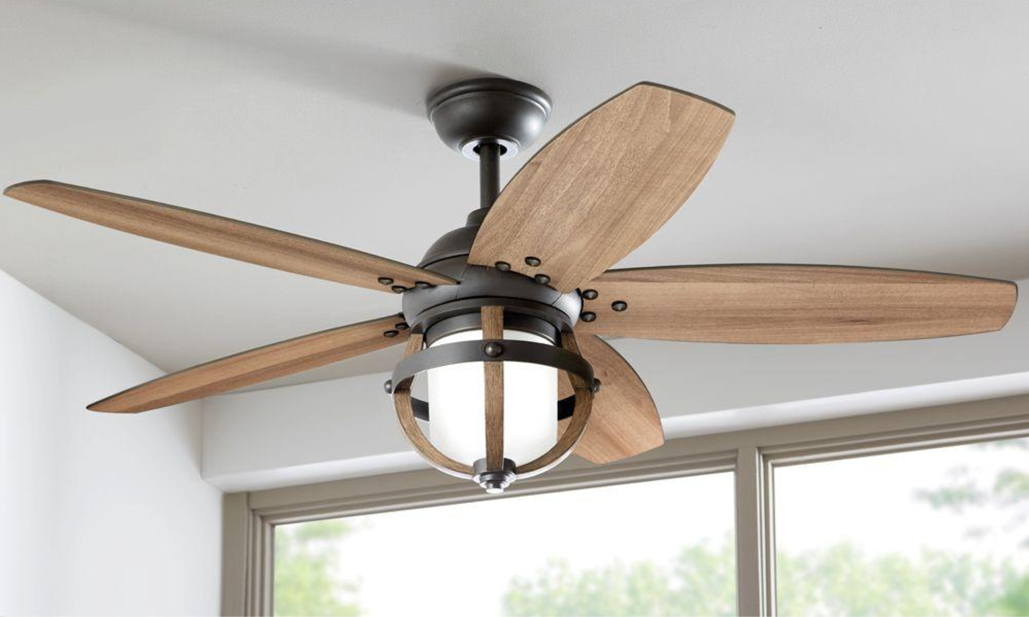 rustic ceiling fans. Wood Blades 52\ Rustic Ceiling Fans