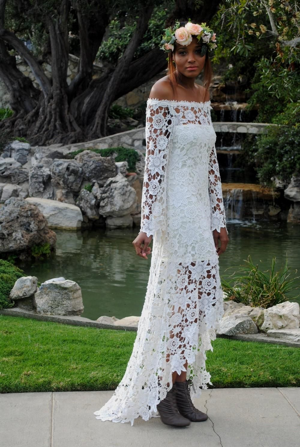 Casual hippie wedding dresses  Popular items for hippie wedding dress on Etsy  Maybe one day