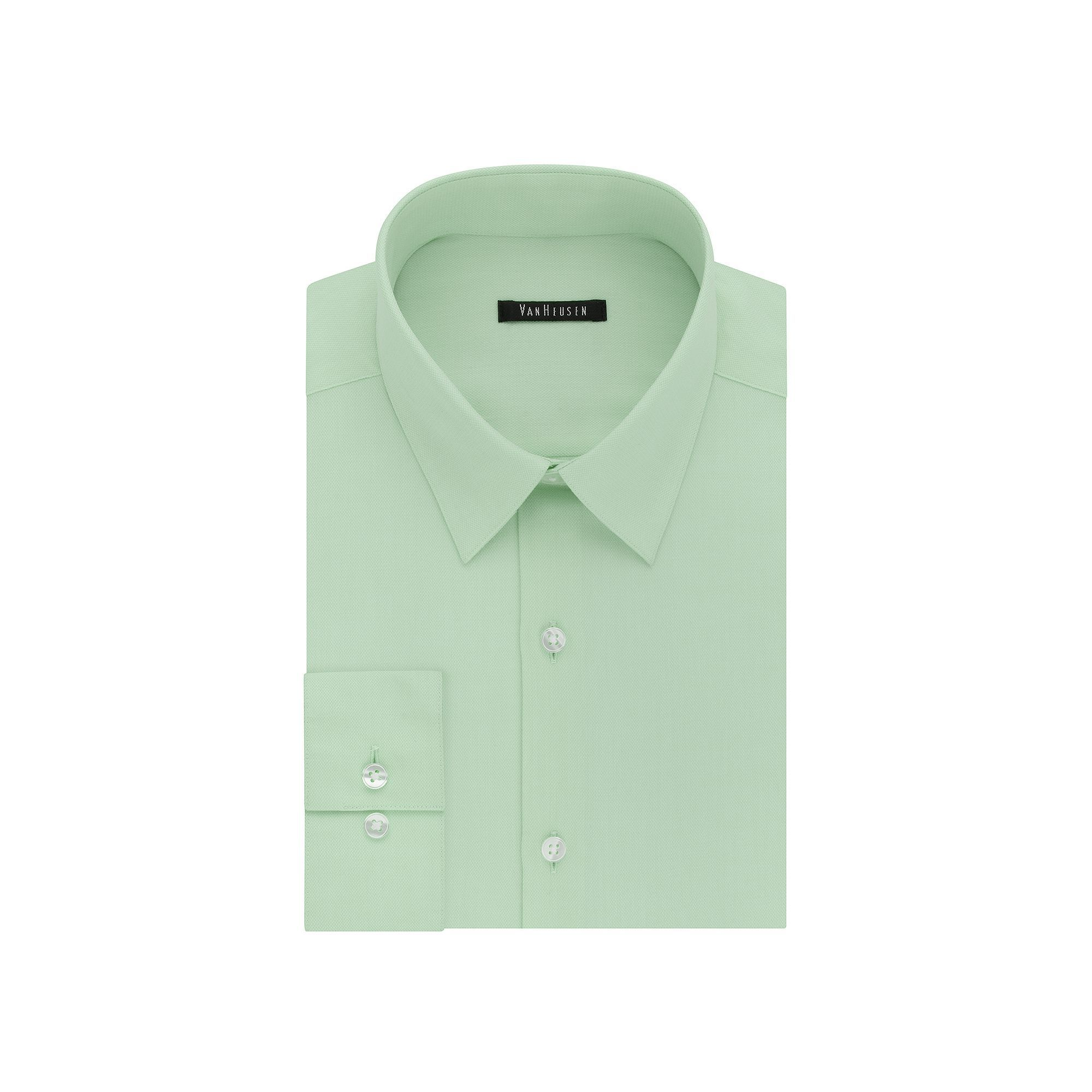 Mens Van Heusen Fresh Defense Slim Fit Dress Shirt Size 185 36