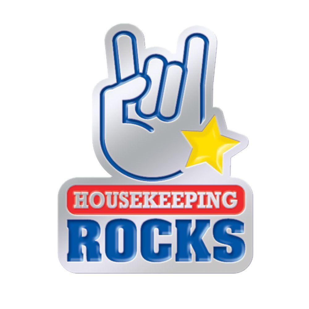 Housekeeping Rocks Lapel Pin Housekeeping, Lapel pins