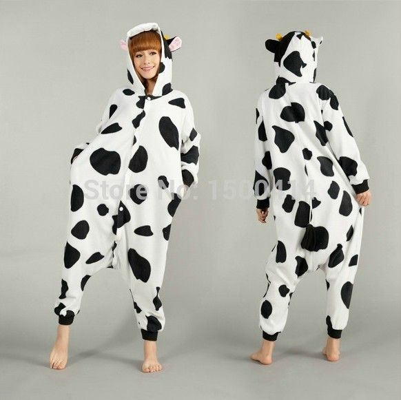 animal adult costume cow onesie pajama halloween carnival masquerade party jumpsuit clothing - Halloween Costume Cow