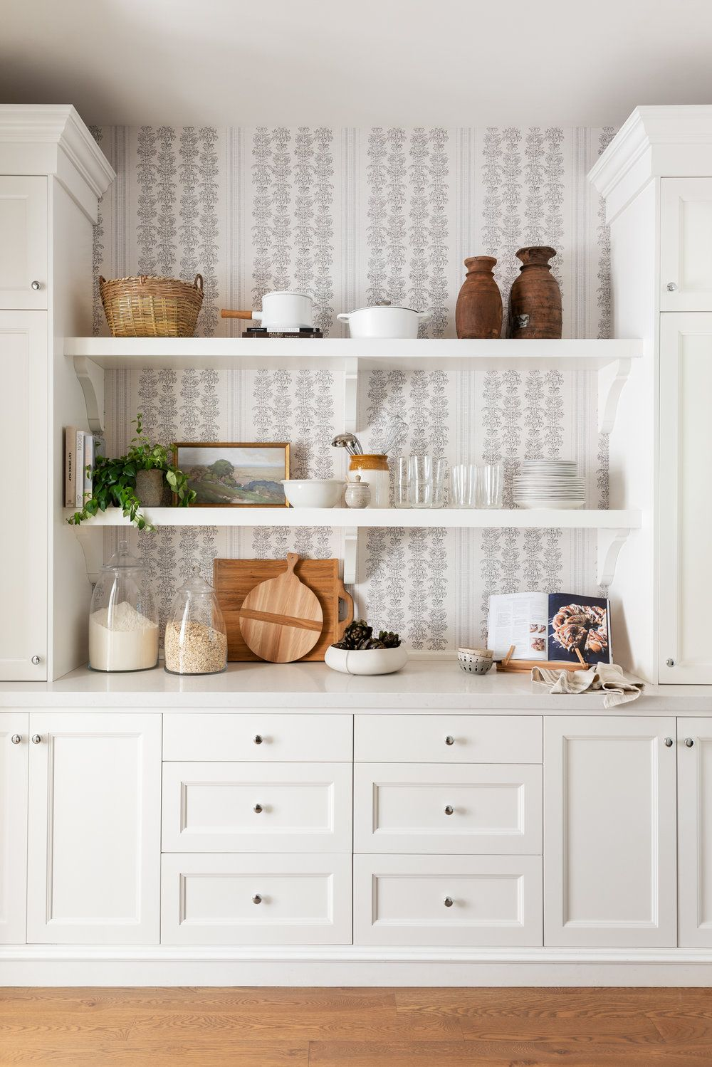 Get the Look A Pantry with Wallpaper Kitchen wallpaper