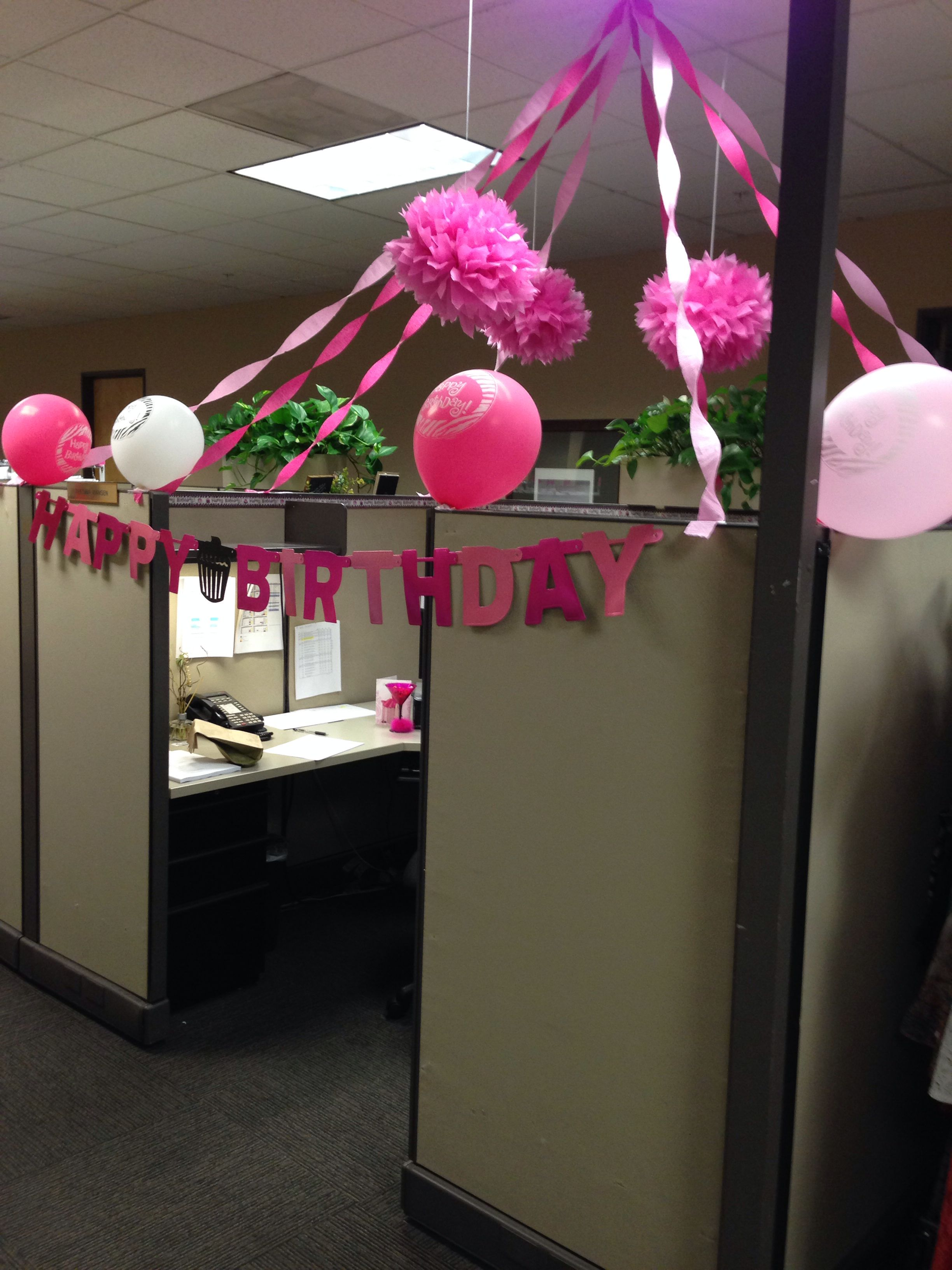 Cubicle Decorations For Birthday My Birthday Cubicle Pinteres