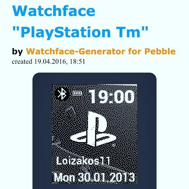 #pebble #watchface #ps #playstation #diy by leonardo341993