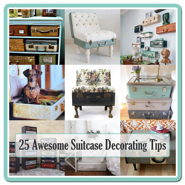 25 Creative Ways To Decorate With Old Suitcases