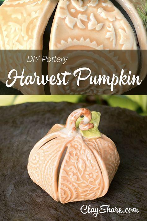 Harvest Pumpkin #slabpottery