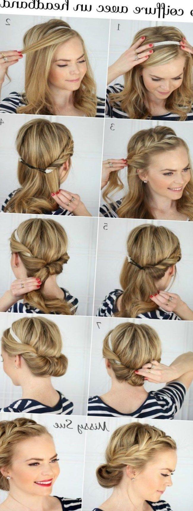 Frisur Mit Kopfband Kopftuch Bandanabinden Locken Haare