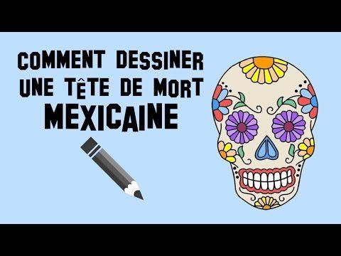 Comment dessiner une t te de mort mexicaine calavera youtube dessin facile pinterest - Dessiner une tete de mort ...