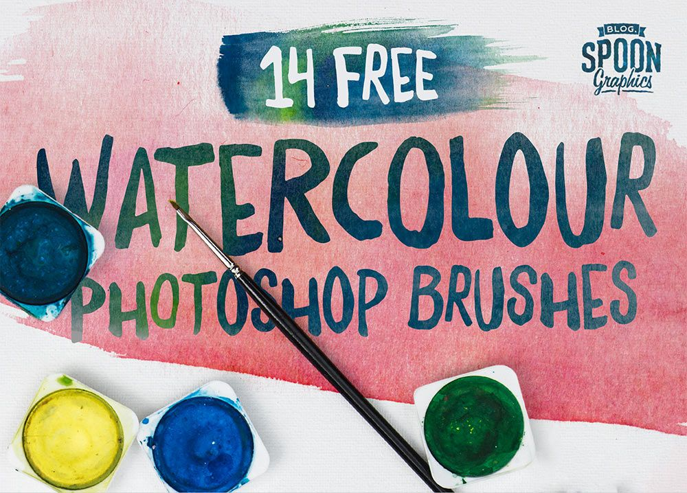Download 14 Free Watercolour Brushes For Adobe Photoshop