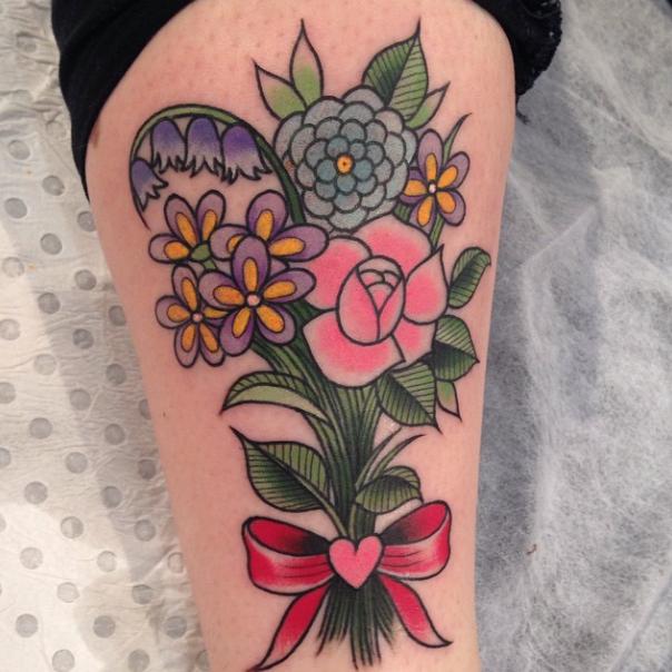 Flower bouquet tattoo - Ebony Mellowship   Tattoos   Pinterest ...