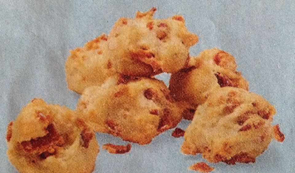 Bacon Bites (Rachael Ray) 5 slices crumbled bacon, 1.5 c