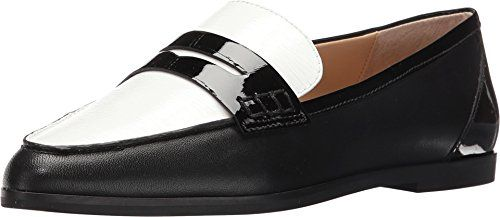 81cd27d4742f0 Womens Shoes Michael Kors CONNOR Penny Loafer Two Tone Black White ...