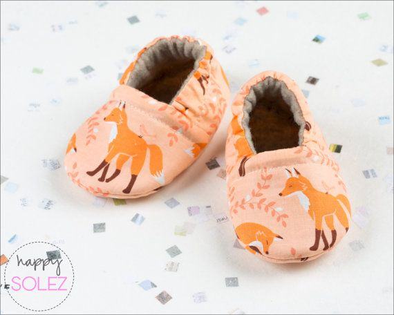 Coral Fox // Baby Booties // Eco Friendly // Crib Shoes // Soft Sole // Accessories for Baby