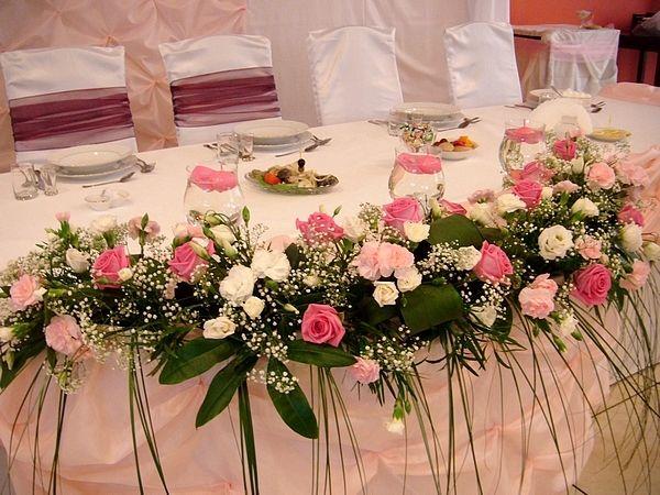 Kompozycja Na Stol Weselny Szukaj W Google Wedding Table Flowers Wedding Table Table Flowers