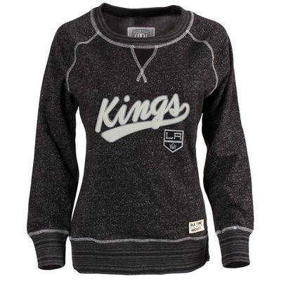 Los Angeles Kings Old Time Hockey Women's Seneca Snow Fleece Crew Sweatshirt – Black