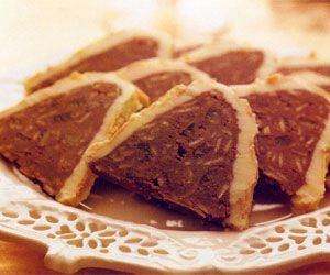 Chocolate Almond Torrone Recipe - http://www.allbakingrecipes.com/recipes/chocolate-almond-torrone-recipe/