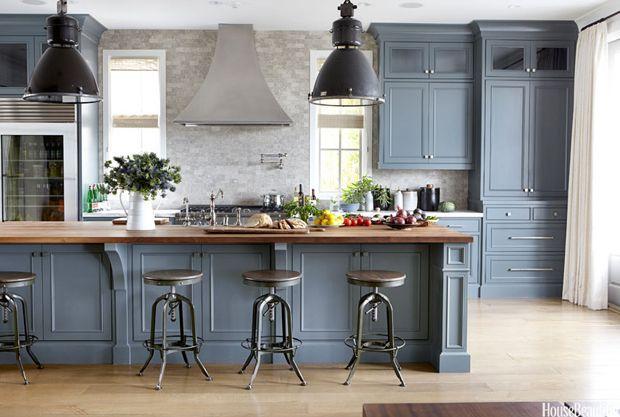 Great Blue Gray Kitchen