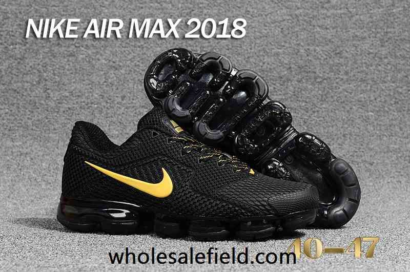 size 40 38ac2 36372 New Nike Air Max 2018 KPU Black Gold Men Shoes | Nike Air ...