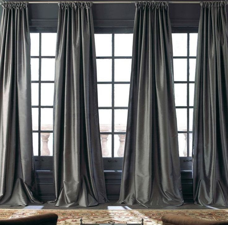 Room · Image Result For Charcoal Silk Curtains For Living Room
