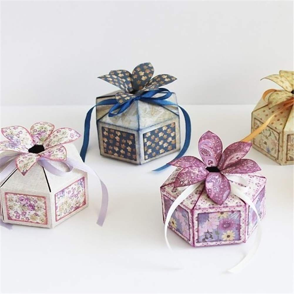 Sweet Gift Box Metal Cutting Dies DIY Present Craft Handmaking Embossing Stencil