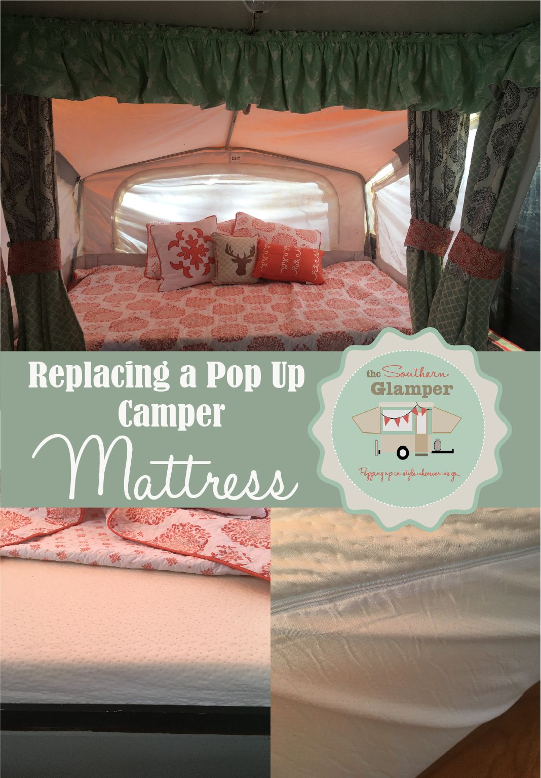 Pop Up Camper Mattress Replacement on a Budget in 2020 ...