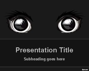 Free Dark Animal Eyes Powerpoint Template Desain