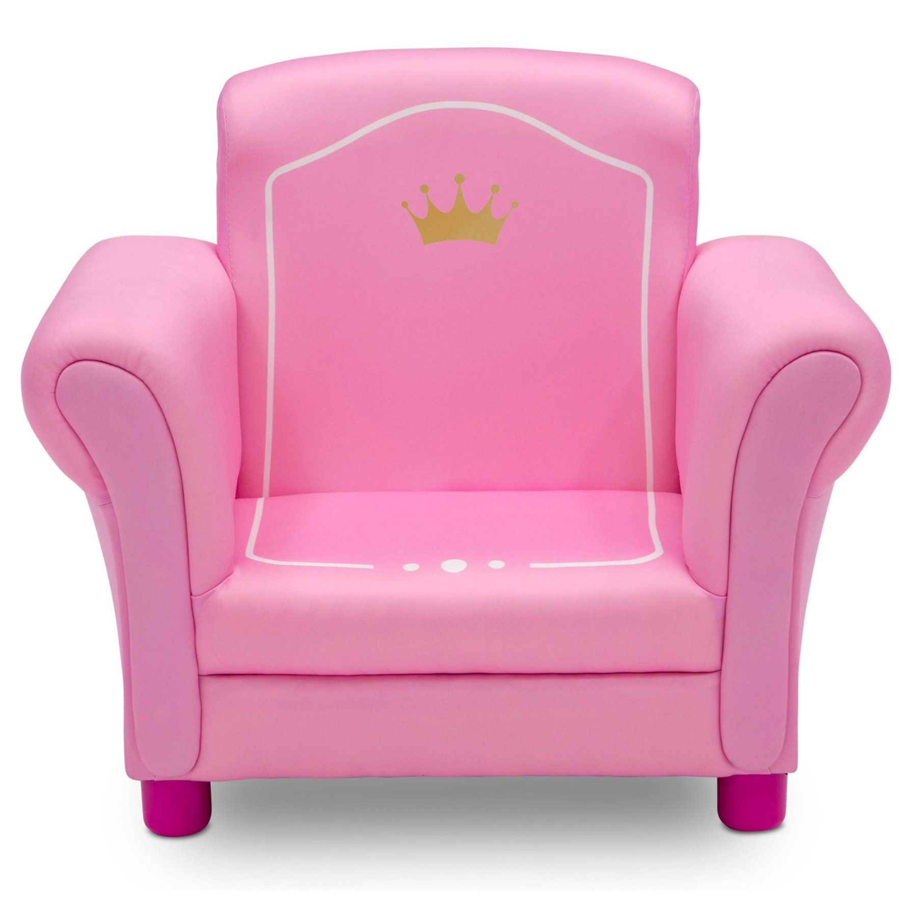 Princess Crown Kids Upholstered Chair By Delta Children Crown