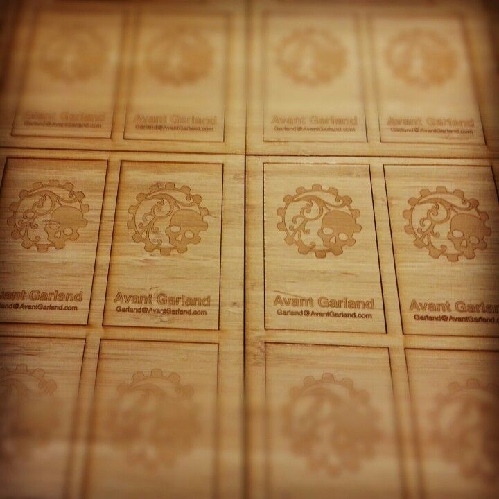 Laser cut bamboo business cards business cards pinterest laser cut bamboo business cards colourmoves