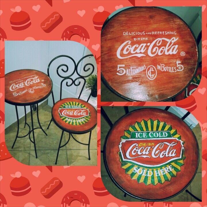 Tavolo e sedia  Coca Cola