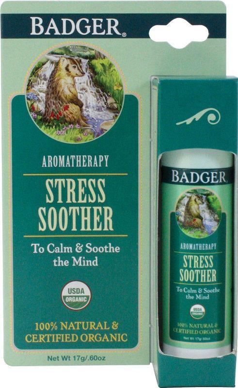 seulement € 7,99. Badger Balm Baume Apaisant Anti-Stress & Tensions. 17 g. Anti-stress, il favorise la relaxation ! 129 évaluation(s) client.