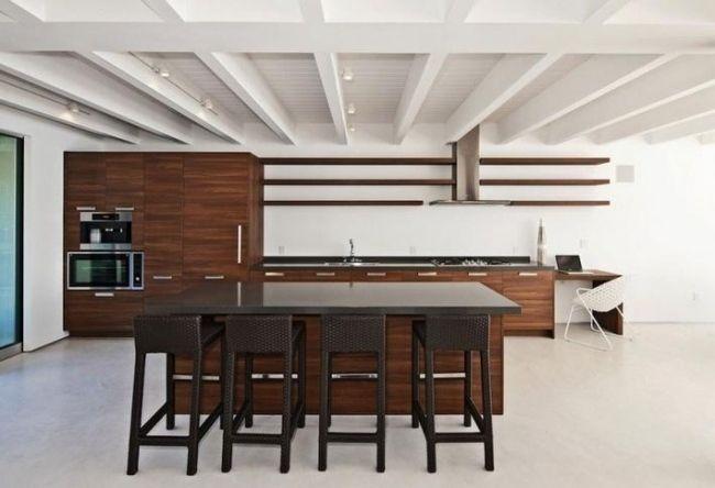 Wohnideen für die Küche holz küchenmöbel stahl griffe Kitchens - küche aus holz
