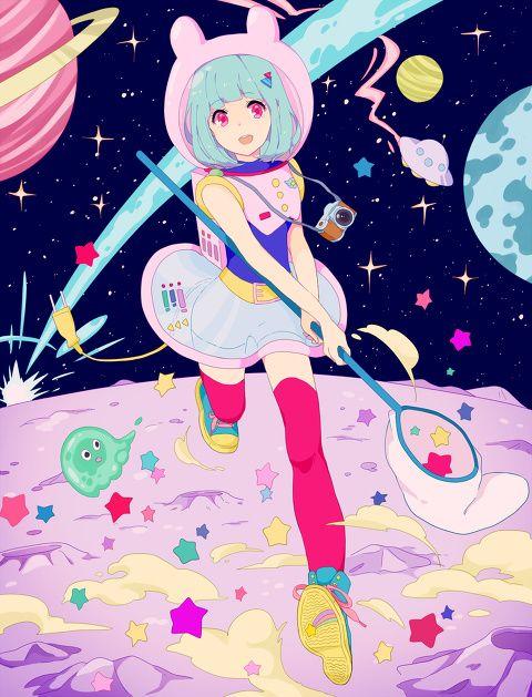 宇宙散歩 Kise のイラスト Pixiv カワイイアート アニメイラスト イラスト