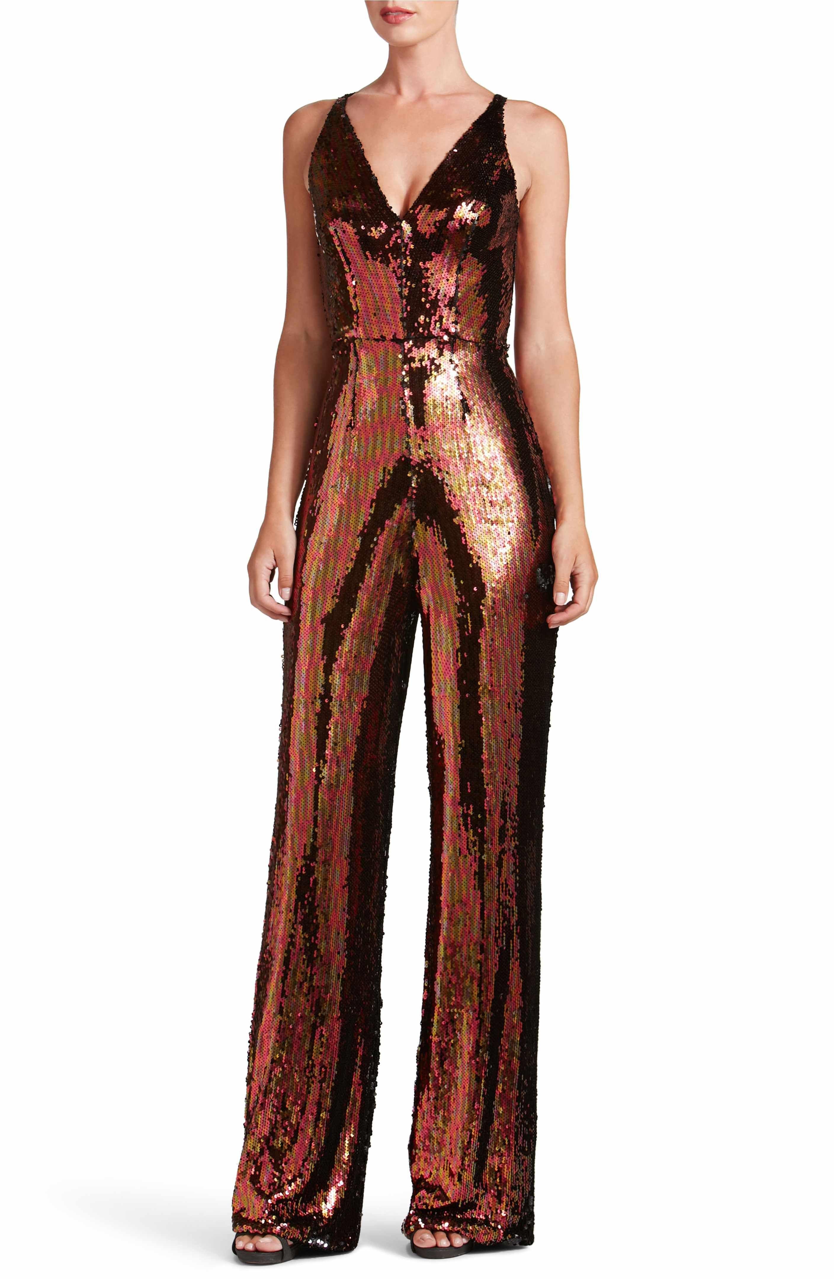 6c636aaf0aa1 Dress the Population Charlie Sequin Jumpsuit   JUMPSUITS   Sequin ...