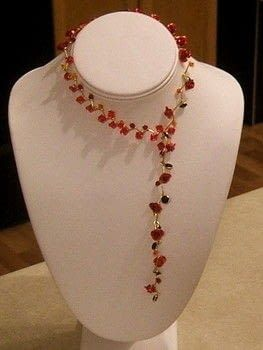 Create A Stunning Vine Inspired Necklace. .  Free tutorial with pictures on how to make a beaded necklace in under 120 minutes by jewelrymaking with beads, eye pins, and round nose pliers. How To posted by Lanie V. Difficulty: Simple. Cost: 3/5. Steps: 12