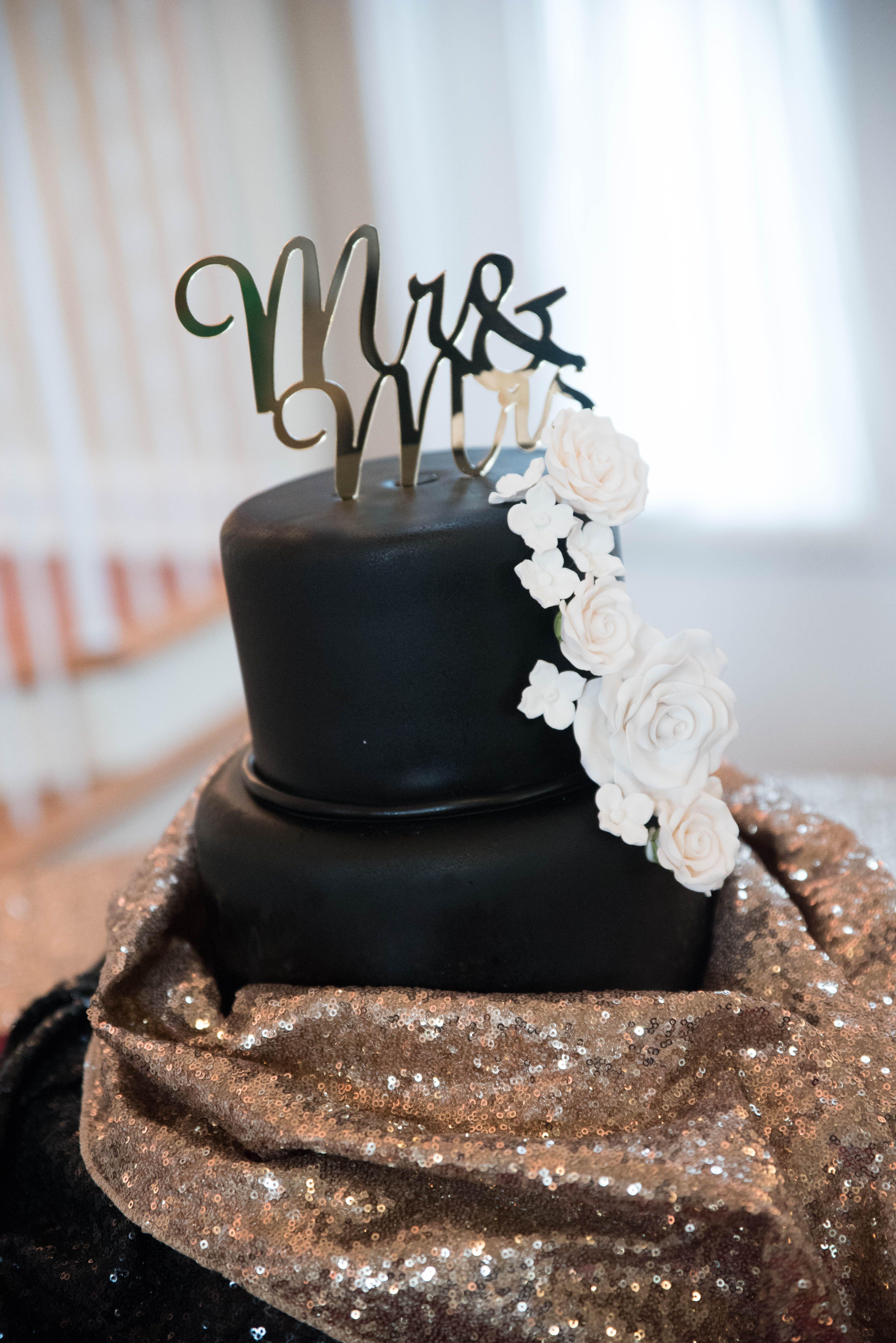 Black Tie Wedding With A Black Wedding Cake? Something Unexpected But Still  Elegant. LeShayne