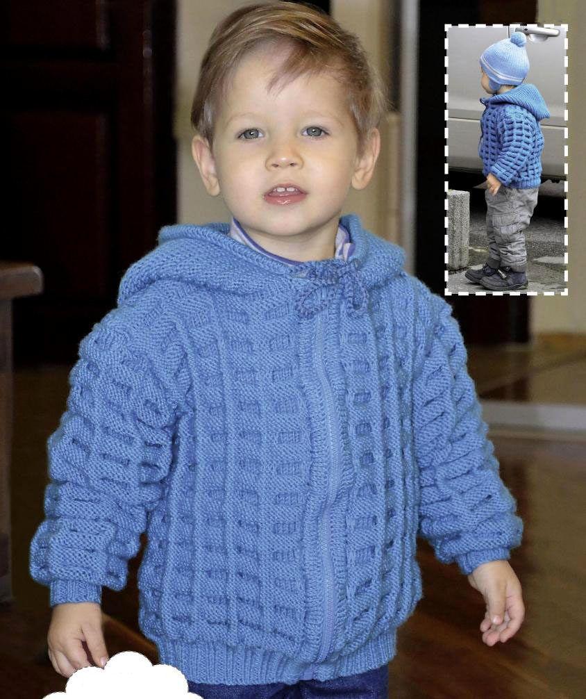 жакет с капюшоном для мальчика 3 лет вязание спицами журнал