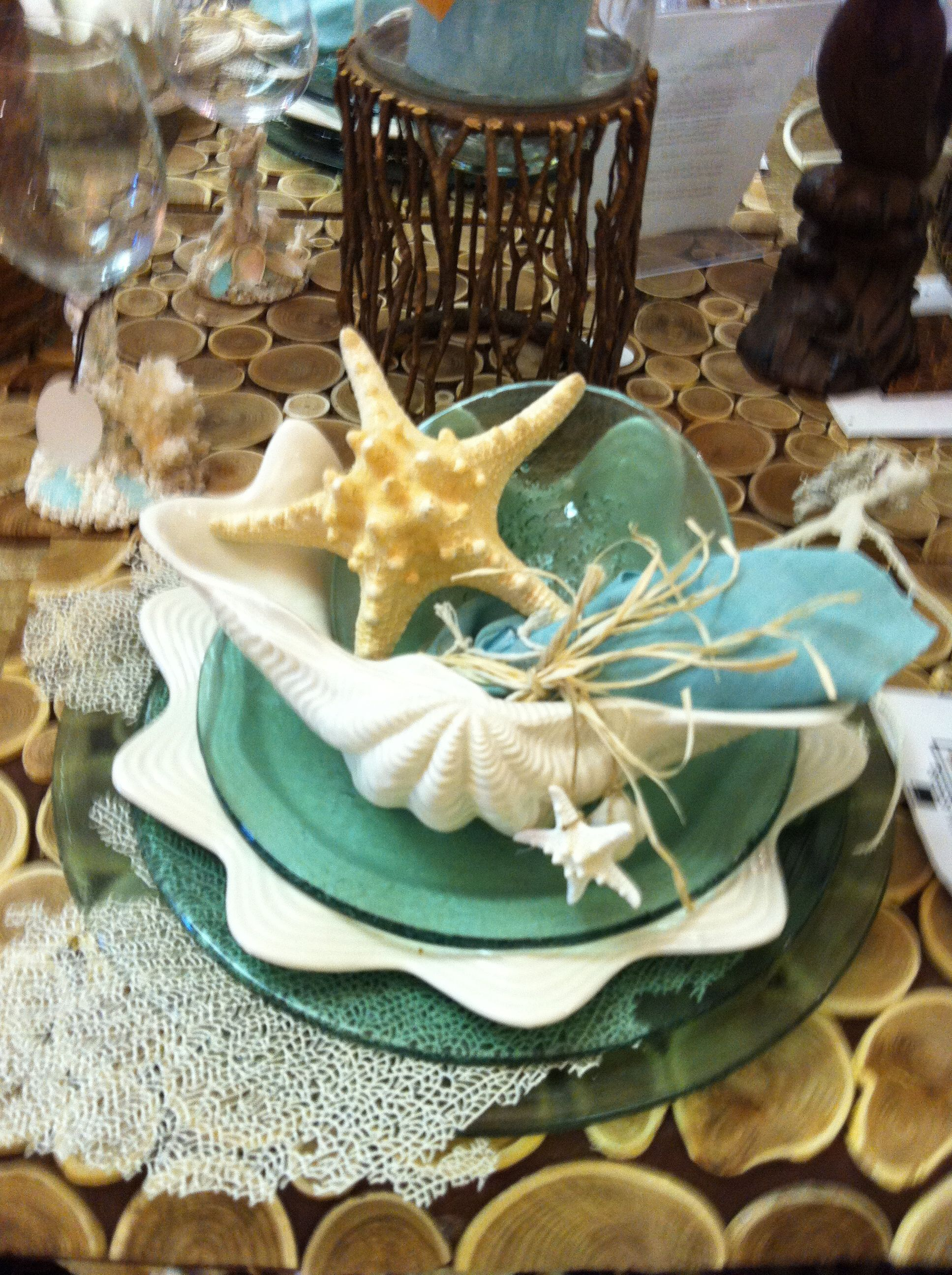 mermaid style table setting | GLORIA\'S DREAMY COASTAL TEA ...