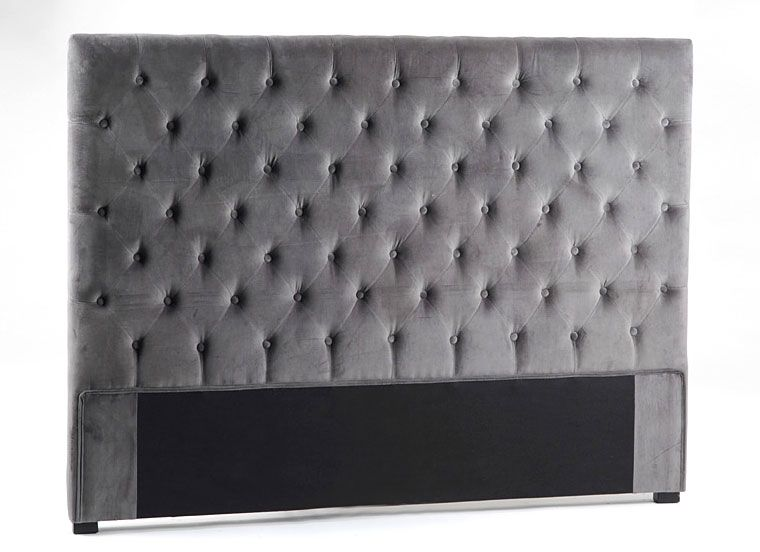 Cabecero Velvet gris colchon de 150 Material: Terciopelo Mueble ...