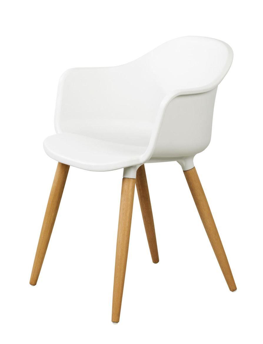 ESTORIL Chaise salle/manger gris clair H 77 x Larg. 53 x P 56 cm ...