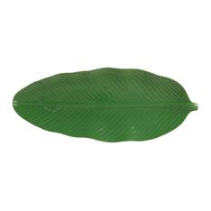 leaf dish green large