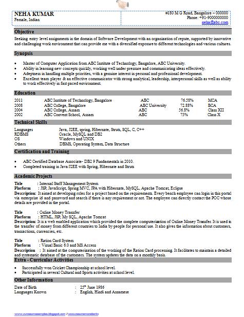 Resume Samples For Network Engineer Softwaredeveloperresumeformat1 475×617 Pixels  Curriculum .