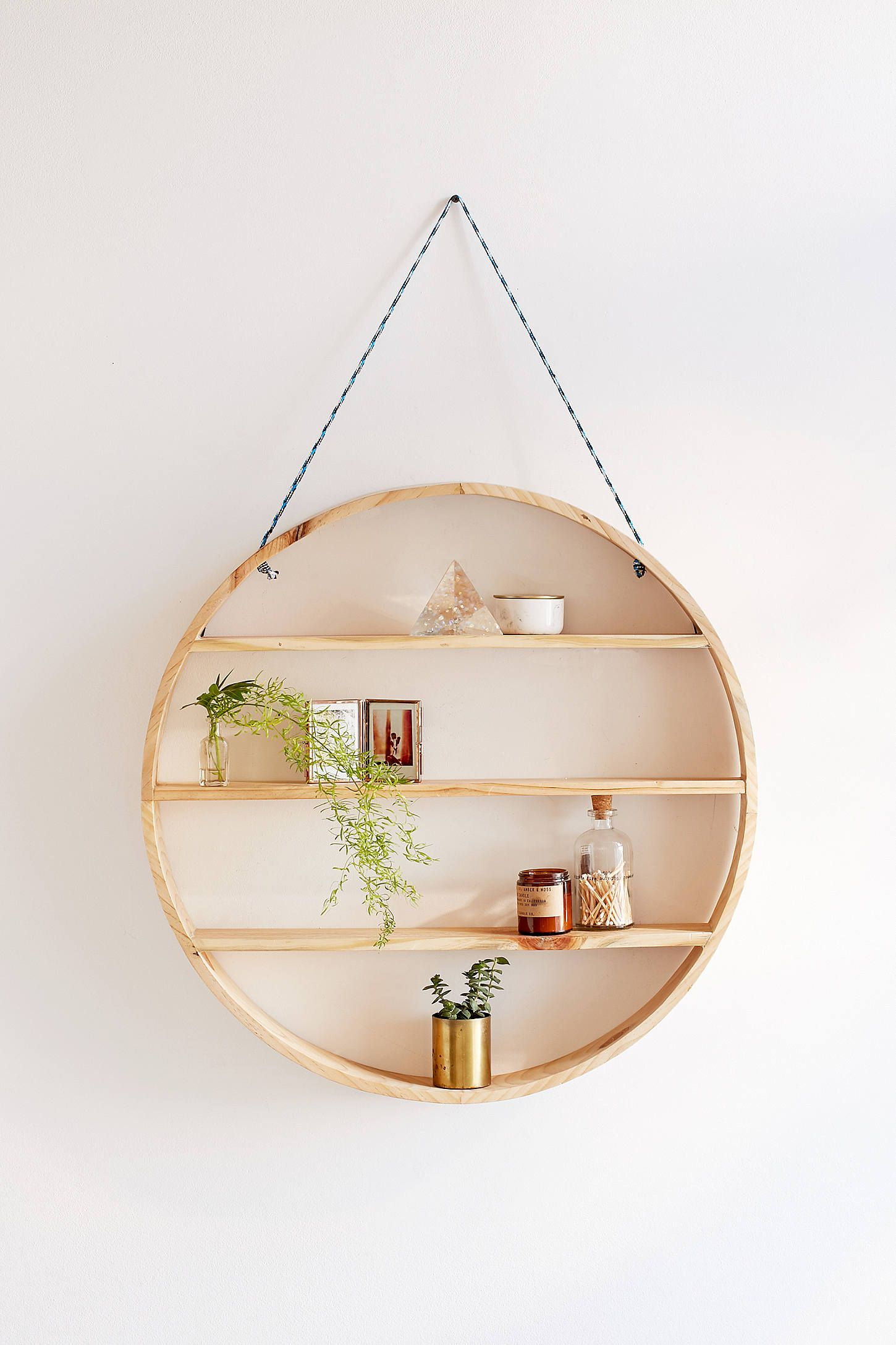 Lovely Leona Hanging Circle Shelf Gallery