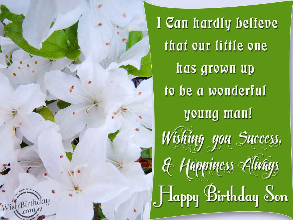 Wishing You A Very Happy Birthday Son Sons And Moms Pinterest