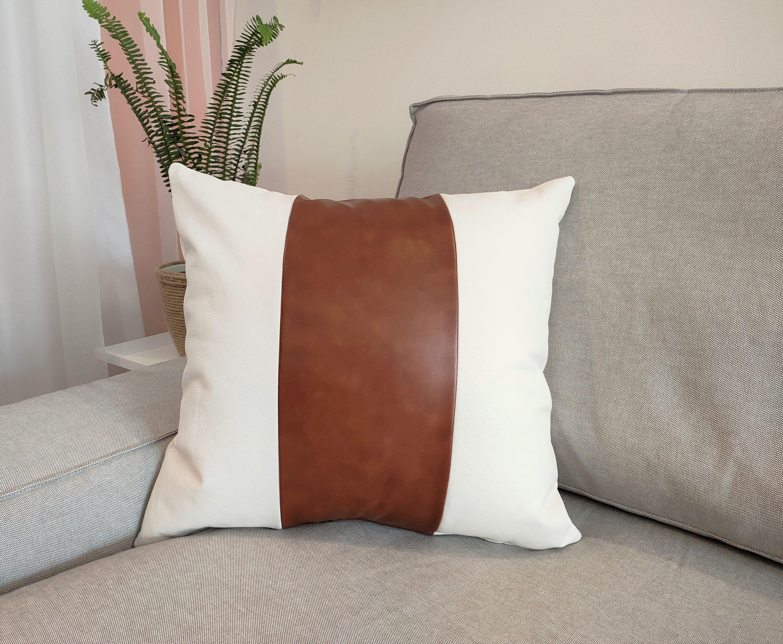 faux leather sofa leather cushion